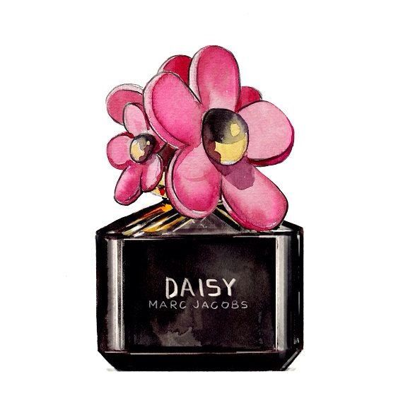 Marc Jacobs Daisy  Illustration von Marc Jacobs Daisy Parfüm, Lifestyle, Mode, Fashion, Illustration, Daisy, Flower, Parfüm
