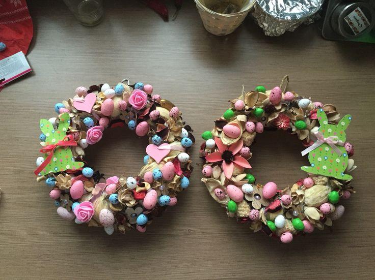 SofiTive- wreath, spring, eggs, easter, door decoration, decoration, DIY, bunny