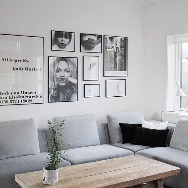 Poster wall with a personal touch and Kate Moss 'Life is a joke' from our shop…