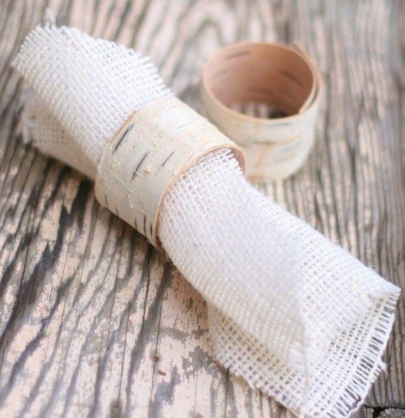 Birch wood napkin holders