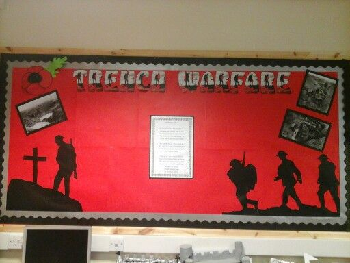 WW1 Display board, ready for childrens work to be added