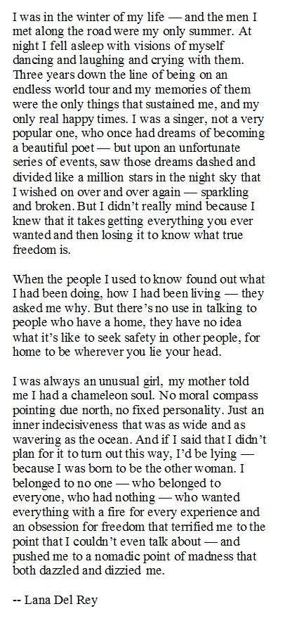 'like a million stars in the night sky' - ride. lana del rey. This is so my life