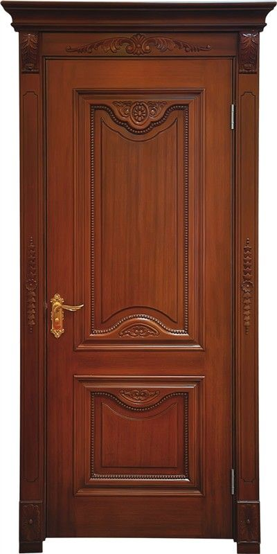 two panel solid wood door www.bestwooddoors.com