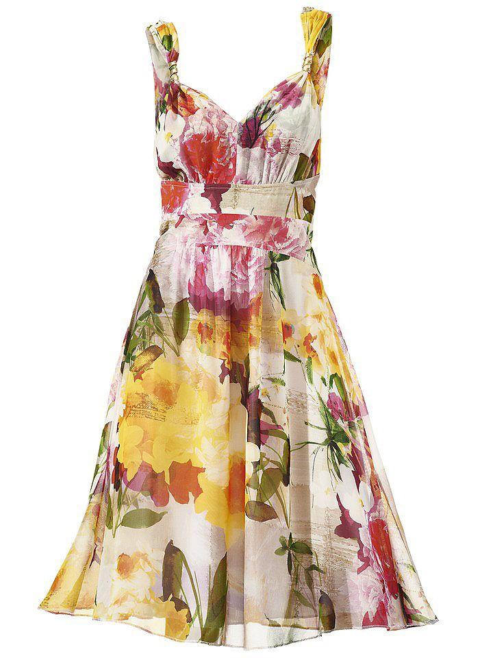 Hochzeit- und Sommersaison. Mit diesem schöne Kleid schlägt man zwei Fliegen mit einer Klappe.