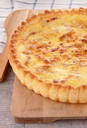Cómo hacer una quiche de jamón y queso #receta #comida #alimentacion #huevos