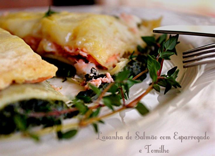 Lasanha de salmão com esparregado