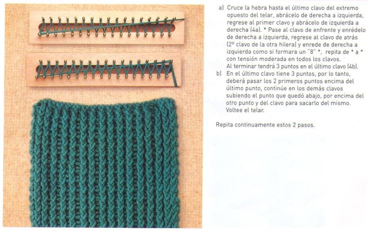 Rectangular Loom Knitting Patterns : 90 best images about telar rectangular on Pinterest
