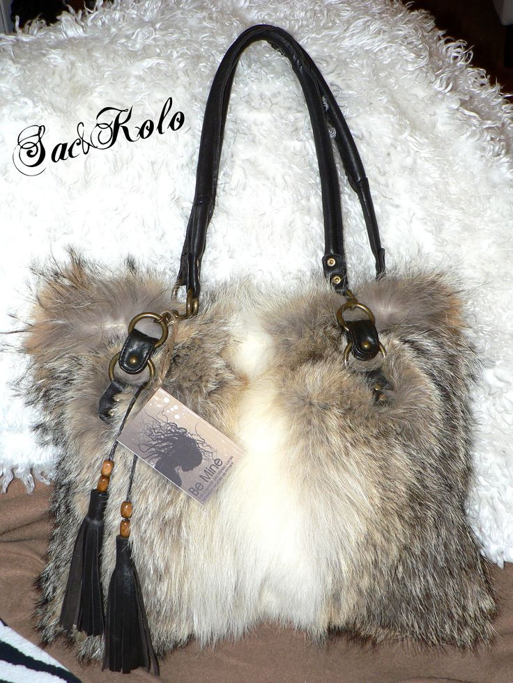 recycled fur handbag
