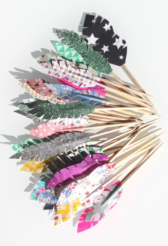 de toppers flèches indien fête d'anniversaire