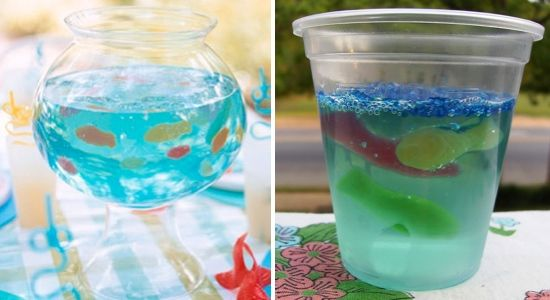Fish Bowl Jello Gummy fish swimming in Gelatin, who would have ...