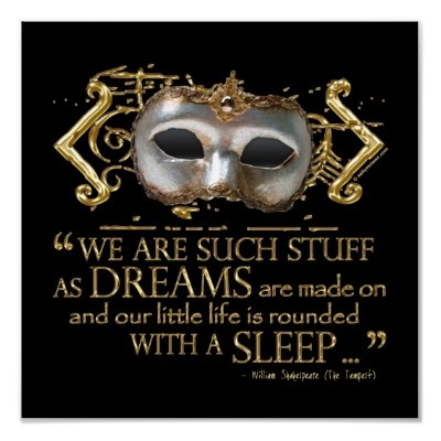 The Tempest Quote (Gold Version) Print by shakespeareshoppe