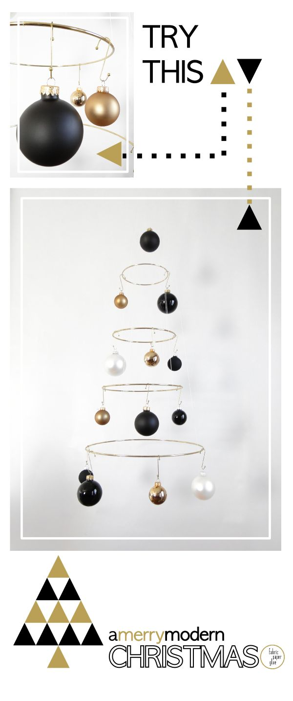 Merry Modern Xmas Tree Tutorial... Doing this in silver and white for the loft!!!