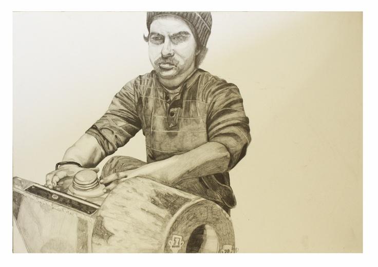Dessin autoportrait réalisé à l'automne 2012 par Vincent Gignac, étudiant de première année.