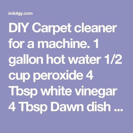 Best 25 Diy Carpet Cleaner Ideas On Pinterest
