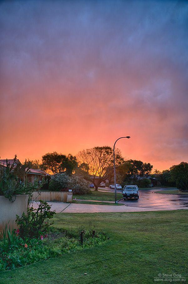 post-thunderstorm II #sunset #Perth #thisisWA
