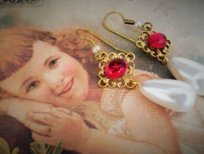 Ruby red vintage crystal