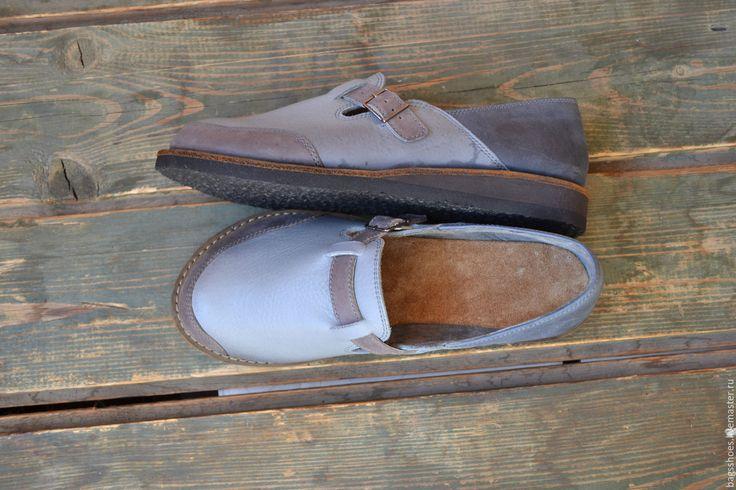 """Купить мокасины """"морской камешек """"-2 - туфли женские, туфли ручной работы, лоферы"""