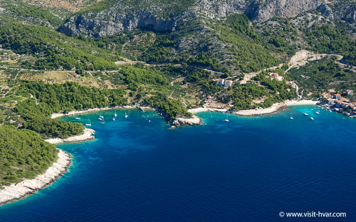Discover Milna on the island of Hvar in Croatia!  www.visit-hvar.com/destinations/milna/milna