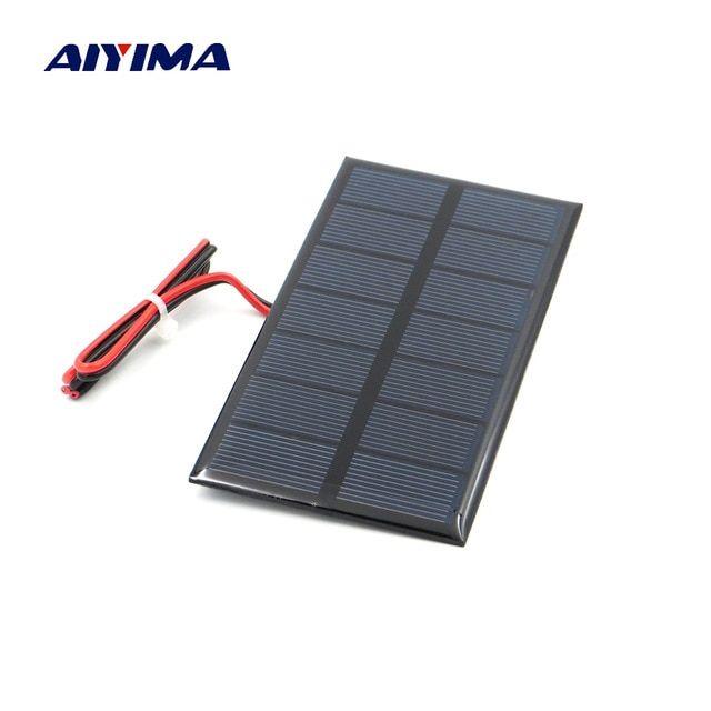 Aiyima 3w 9v Polycrystalline Solar Panel 125 195mm Sunpower Solar Cell Battery Module Polycrystallin Diy Solar Power System Solar Energy Panels Solar Power Diy