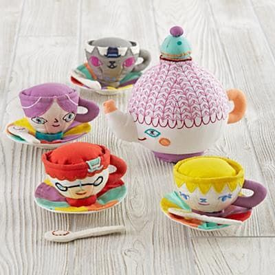 This would be good for a first birthday gift. Party Guests Tea Set by The Land of Nod
