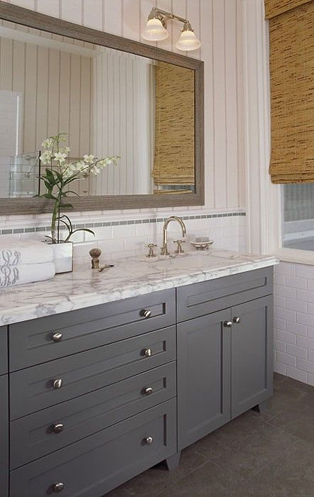 Full Overlay Paint Grade Shaker Style Bathroom Vanity