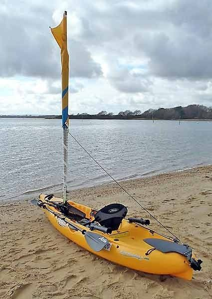 A complete step-by-step guide on how to rig a Hobie kayak for sailing - including rudder upgrade, side-kicks, furling gizmo and much more