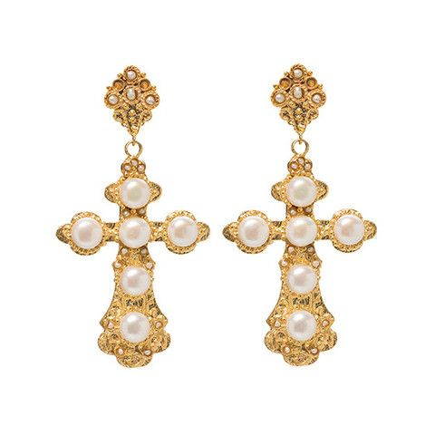 Nonia Earrings Pearl || Christie Nicolaides