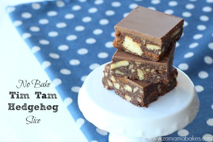 No Bake Tim Tam Hedgehog slice feature