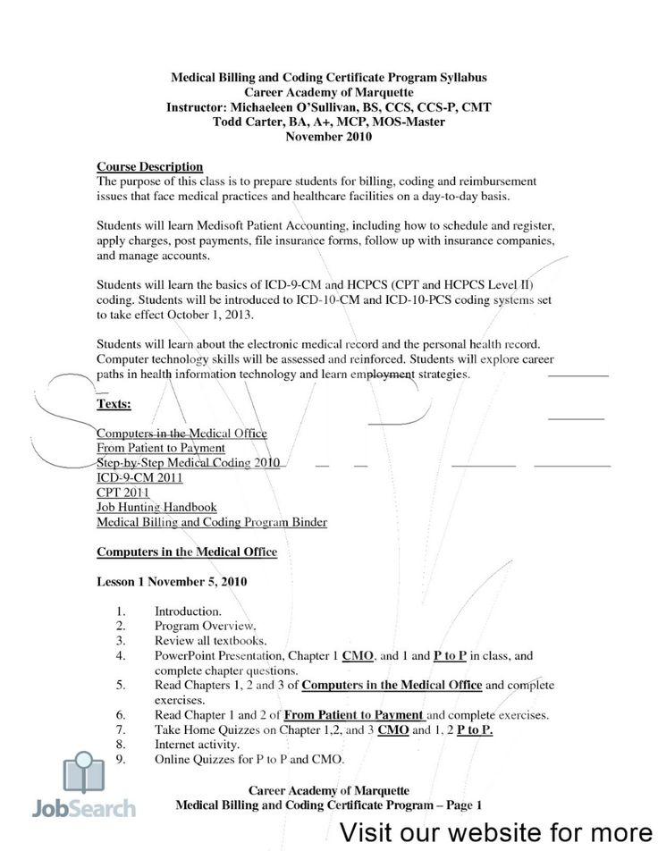 Resume for Medical Coder Fresher in 2020 Medical coder