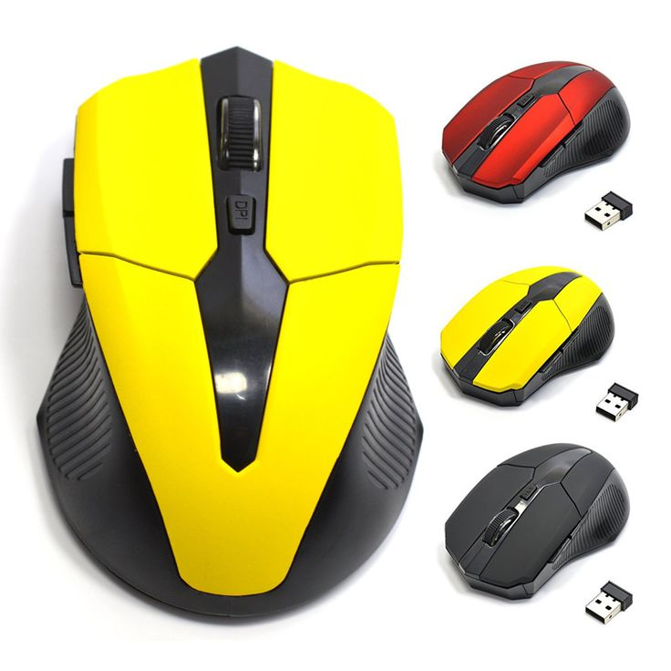 2.4G USB Wireless Mouse Optical 5 Tombol Merah untuk Komputer Laptop Gaming Tikus