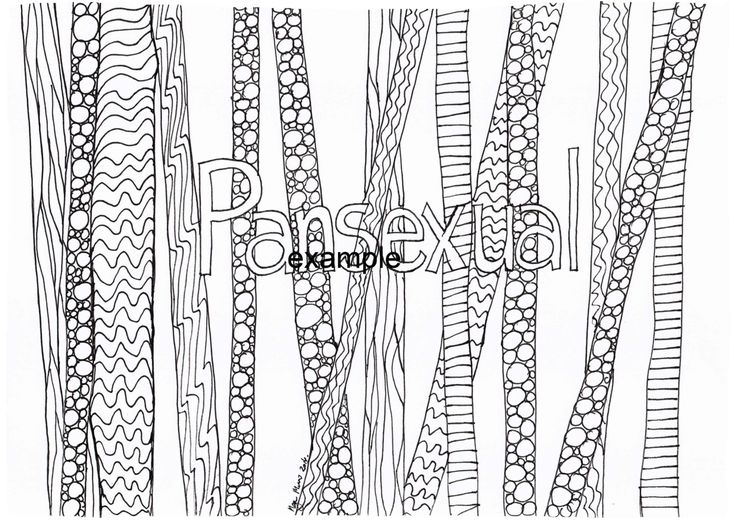 Pansexual, LGBTIAPQ, Adult Colouring in by ArachneArt on Etsy