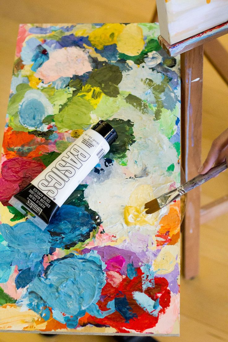 Tips for acrylic painting, abstract painting tutorial, how to paint with acrylics, paint your own abstract painting, wandeleur