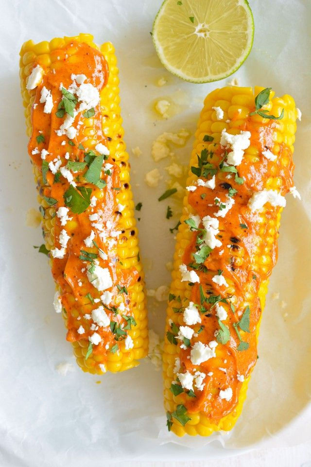 Grilled Corn with Lime Butter and Smokey Mayo {And How to Grill the Perfect Corn