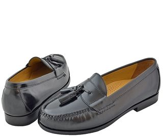 Cole Haan - Pinch Air Tassel Black $168. The 'Pinch Air Tassel' offers impeccable styling, genuine hand-sewn moccasin construction and all-day comfort.
