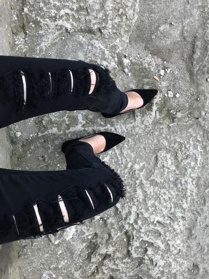 black in grey.