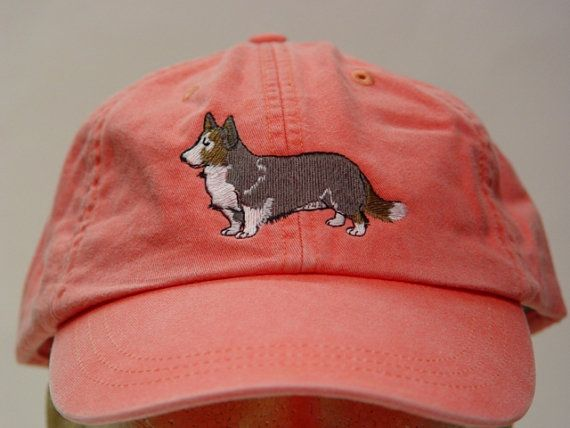 Cardigan Welsh Corgi Dog Hat - One Embroidered Men Women Cap - Price Embroidery Apparel - 24 Color Caps Available by priceapparel on Etsy
