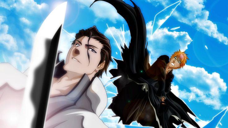 Anime Bleach  Aizen Tosen Tousen Gin Ichimaru Kaname Lord Sosuke Aizen Las Noche Espada Bankai Shinigami Fire Manga Anime Fondo de Pantalla