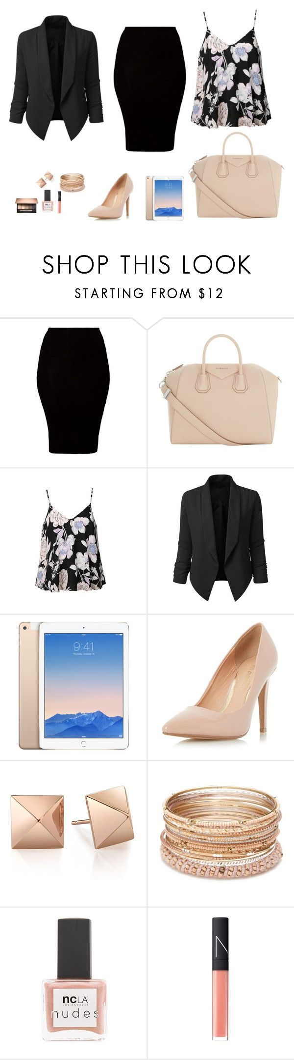 """""""Business look"""" by monika1555 on Polyvore featuring American Apparel, Givenchy, Ally Fashion, LE3NO, Dorothy Perkins, Red Camel, ncLA and NARS Cosmetics"""