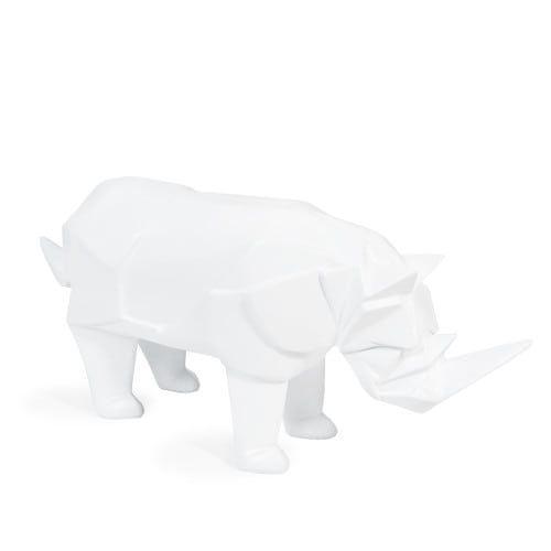 Nashornfigur HUDSON weiß, H 14 cm