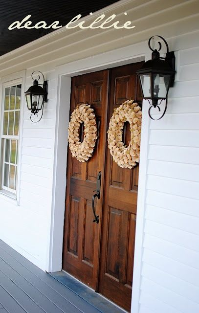 Double front doors give a fantastic sense of drama to an entrance. Love this front door!