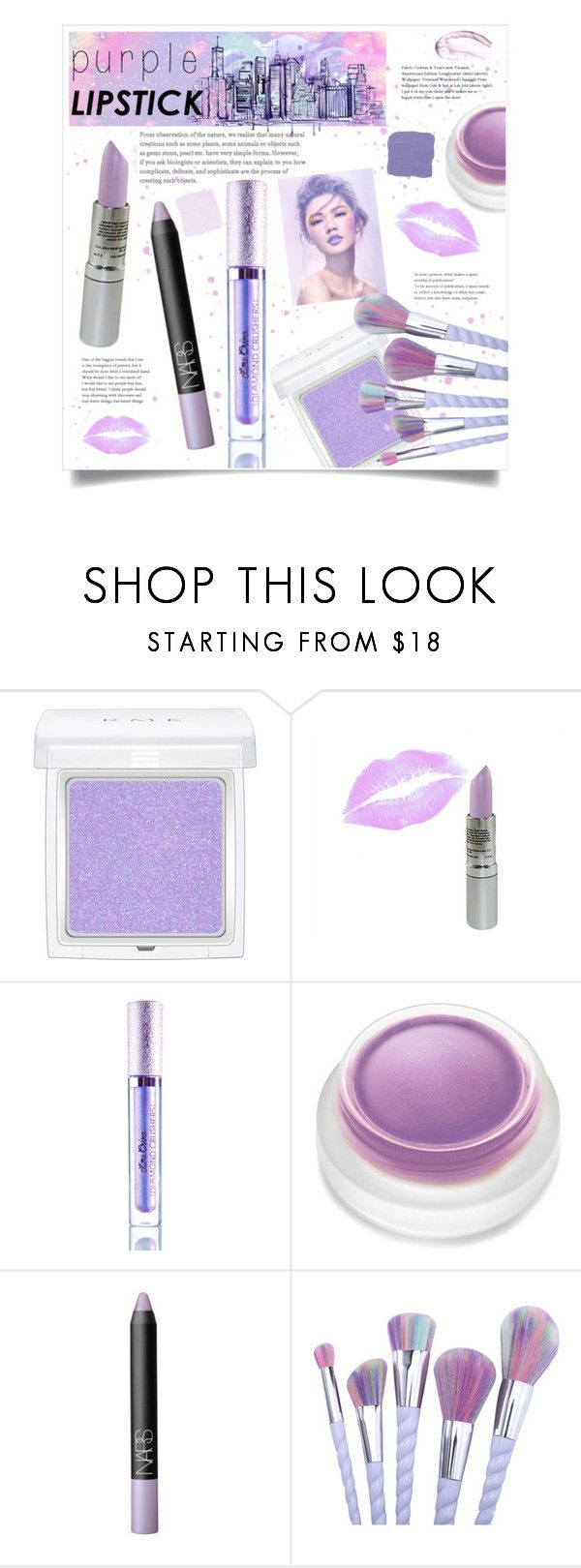 """""""Twilight"""" by mmk2k ❤ liked on Polyvore featuring beauty, RMK, Obsessive Compulsive Cosmetics, rms beauty, NARS Cosmetics, Chantecaille, purple, LIPSTICK and purplelipstick"""