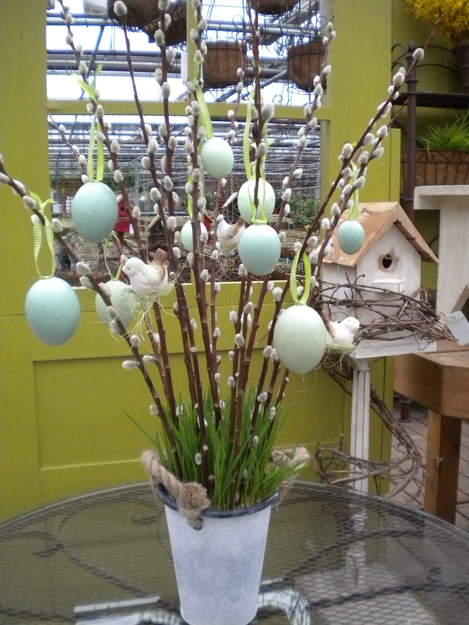 Easter pussy willow tree: Holiday Ideas, Holiday Cheer, Holiday Crafts, Willows Branches, Pussy Willows