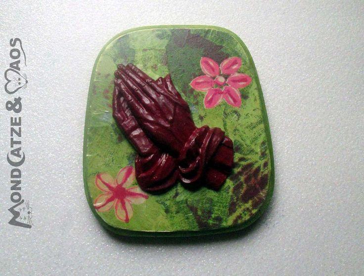 Bilder - betende Hände in bunten Farben - ein Designerstück von Mondcatze-and-Maos bei DaWanda