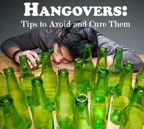Tips for getting rid of hangovers! SO good to know
