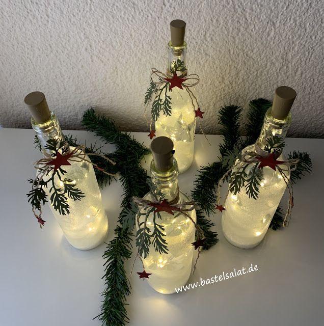 Lichterglanz Dekoration Weihnachten Basteln Selber Basteln Weihnachten Weinflaschen Dekorieren