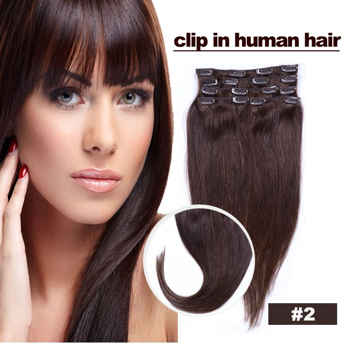 Aliexpress Buy 16Inch 24Inch Virgin Clip In Hair Extension 100 Pure Human