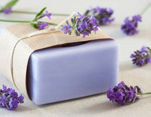 Learn how to make homemade soaps from herbs and flowers, including a recipe for rosemary lavender soap.