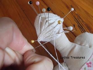 How to make Tilda doll hair