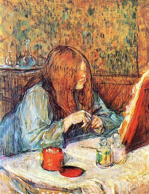 Henri de Toulouse Lautrec 1898, Madame Poupoule at her Dressing