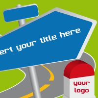 Road signs – Free Template for PowerPoint and Impress